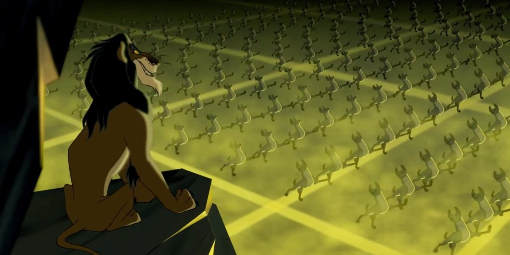 the lion king uses nazi imagery to convey villiany